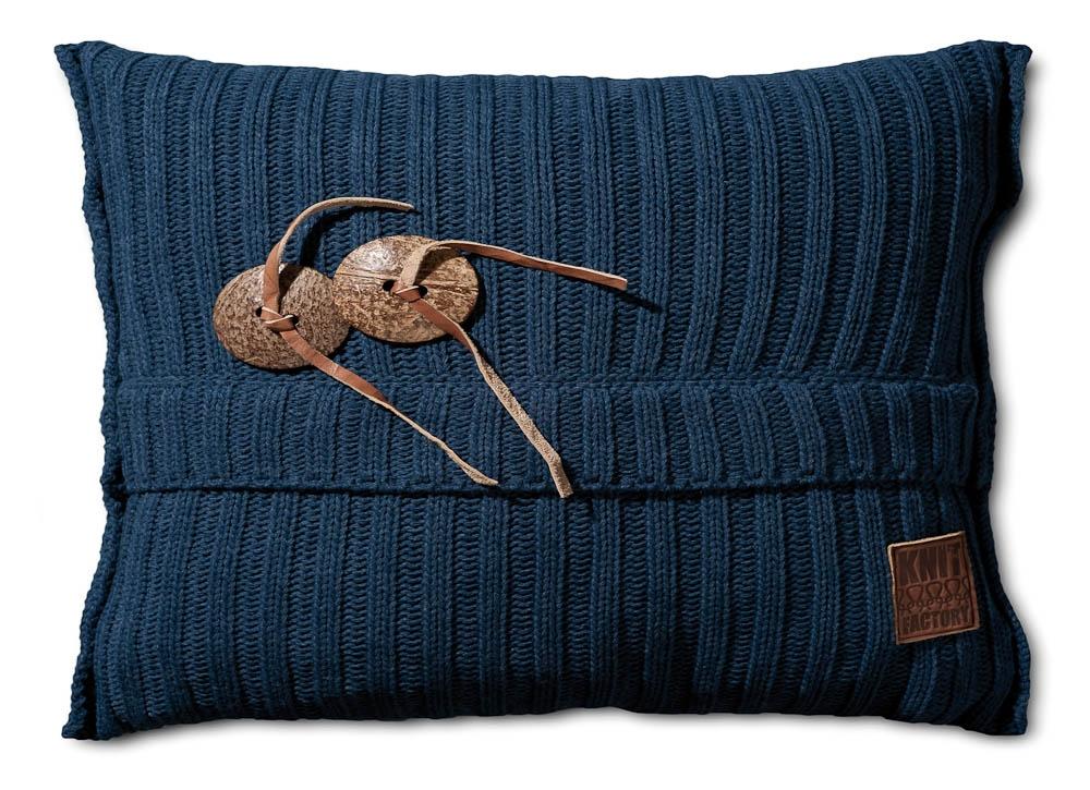 Gebreid kussen Aran jeans 60x40