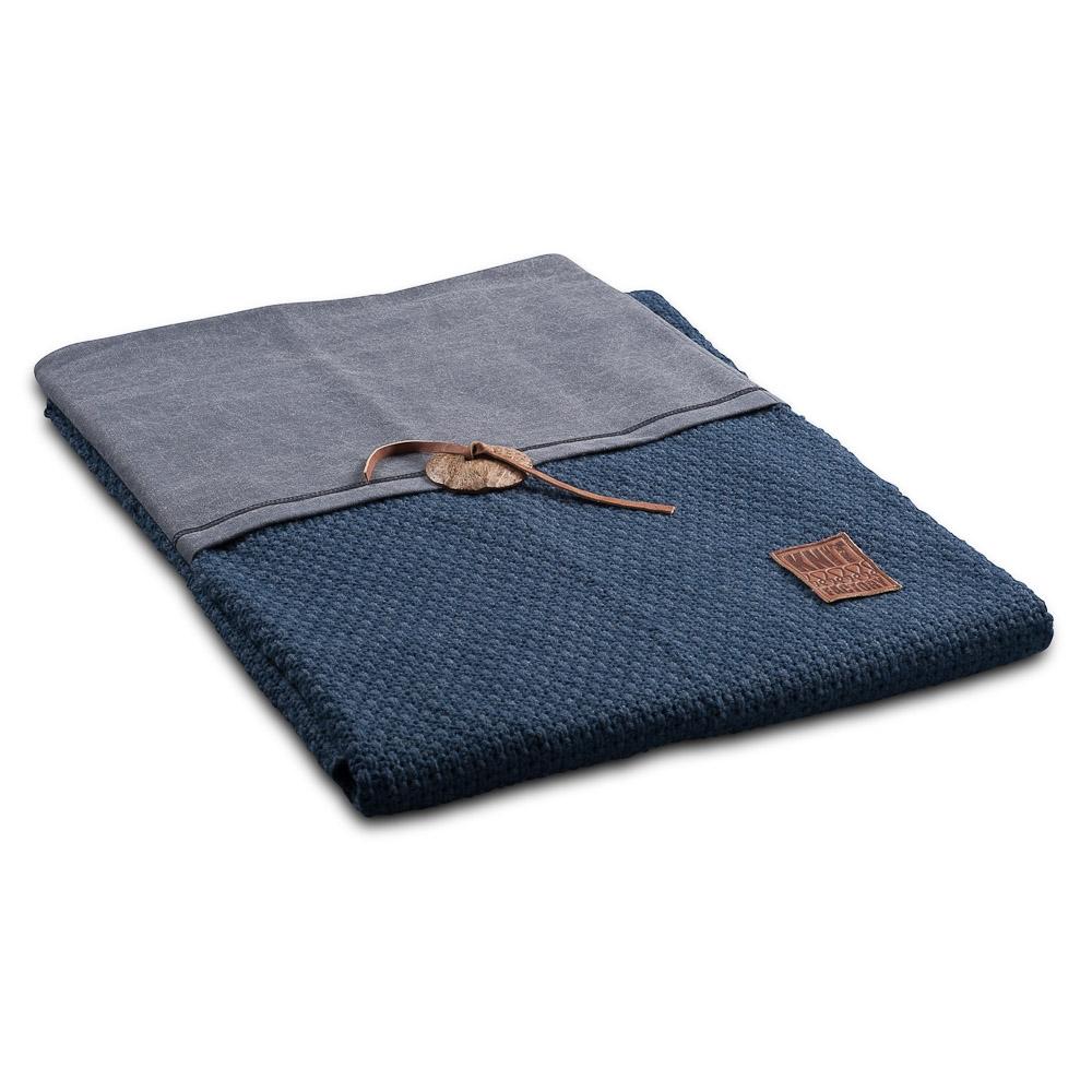 Gebreid plaid Gerstekorrel Jeans