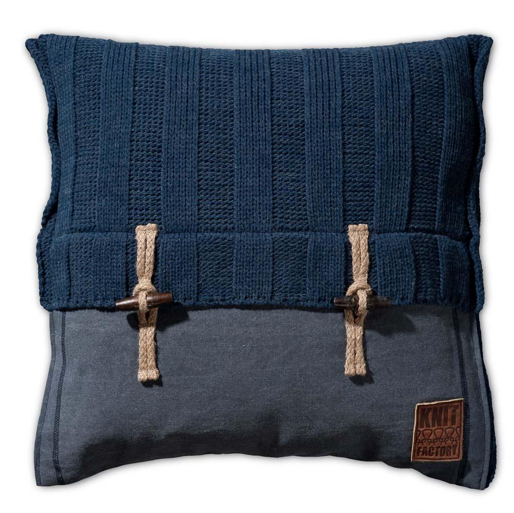 Gebreid kussen Rib jeans 50x50