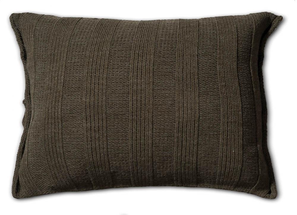 Knit Factory gebreid kussen rib groen 60x40  BeauDecoration.nl