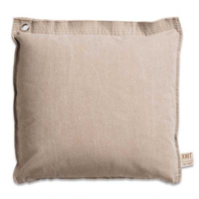 Knit Factory gebreid kussen Mara beige 50x50