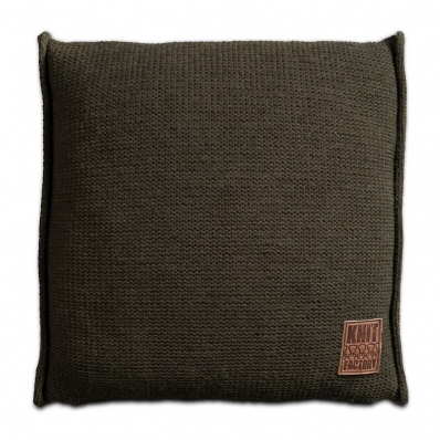 Knit Factory gebreid kussen 50x50 groen