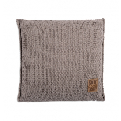 Knit factory kussen Jesse taupe
