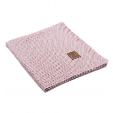 Knit Factory gebreid plaid Jesse roze
