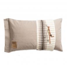 Knit Factory gebreid kussen Julia beige 60x40
