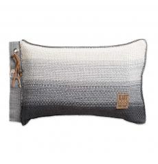 Knit Factory gebreid kussen Mae grijs mele 60x40