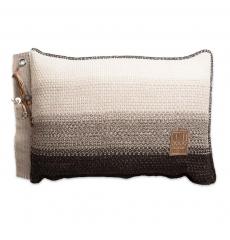 Knit Factory gebreid kussen Mae beige mele 60x40