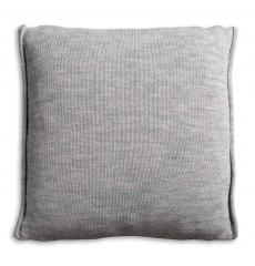 Knit Factory gebreid kussen Noa antraciet 50x50