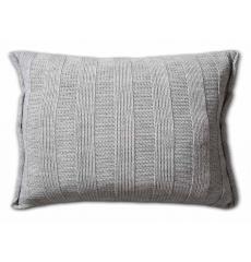 Knit Factory gebreid kussen 60x40 Rib