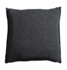 Knit Factory gebreid kussen uni antraciet 50x50