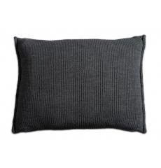 Knit Factory gebreid kussen uni antraciet 60x40