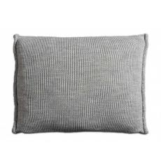 Knit Factory gebreid kussen uni lichtgrijs 60x40