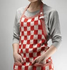 Knit Factory keukenschort rood