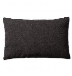 Knit Factory kussen 60x40 Lois zwart mele