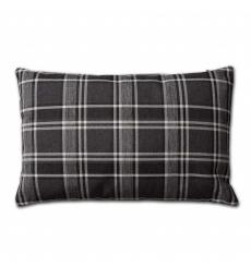 Knit Factory kussen 60x40 Lois zwart ruit