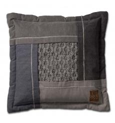 Knit Factory gebreid kussen Trix lichtgrijs mele 50x50