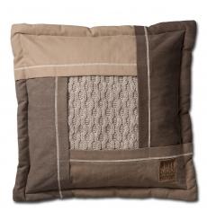 Knit Factory gebreid kussen Trix beige mele 50x50