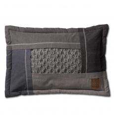 Knit Factory gebreid kussen Trix lichtgrijs mele 60x40