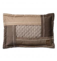 Knit Factory gebreid kussen Trix beige mele 60x40