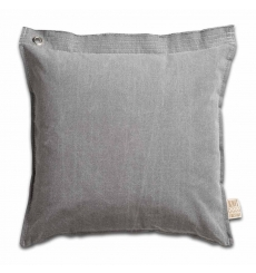 Knit Factory gebreid kussen Mara lichtgrijs 50x50