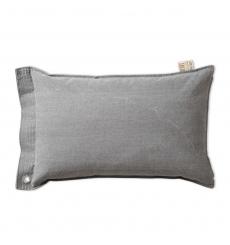 Knit Factory gebreid kussen Mara lichtgrijs 60x40