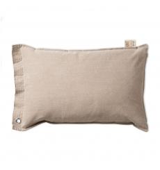 Knit Factory gebreid kussen Mara beige 60x40