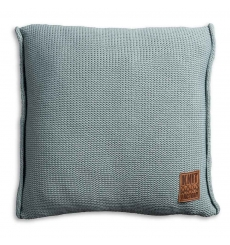 Knit Factory gebreid kussen uni stone green 50x50