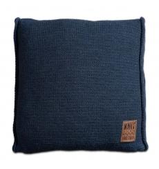 Knit Factory gebreid kussen uni jeans