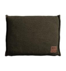 Knit Factory gebreid kussen uni groen 60x40
