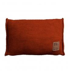 Knit Factory gebreid kussen uni terra 60x40