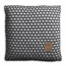 Gebreid kussen Mila licht grijs-antra 50x50