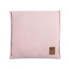 Gebreid kussen Jesse roze 50x50