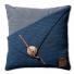 Gebreid kussen Gerstekorrel jeans 50x50