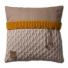 Knit Factory gebreid kussen 50x50 Joep beige mele
