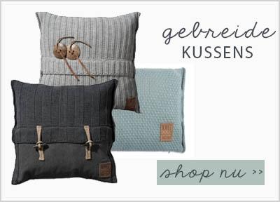 knit factory gebreide kussens